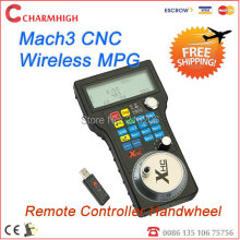 Free shipping HK post 3 / 4 axis mach3 2.4G CNC Wireless MPG MACH3 Remote Controller Handwheel, cnc wireless channel