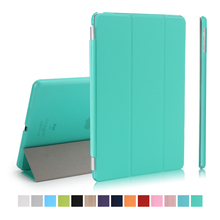 "Smart Case For New iPad 9.7 inch 2017 Model Folding Folio Cover Auto Sleep/Wake Up Tablet 9.7"" stand pu leather+pc plastic"