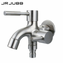 304 stainless steel Washing Machine Faucet double use bibcock Laundry Mop Pool Tap Dual Handles washing machine taps(China)