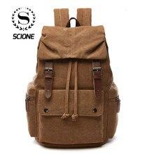 9cccbf7e5cff Korean Solid Canvas Laptop Backpack For Men Women A++ Grade Solid  Waterproof Best Laptop Backpacks mochila