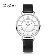 Women Silver Dress Watch Classic Vintage Leather Simple Style Lvpai Bracelet Quartz Electronic Watch Clock Ladies Female Watch(China)