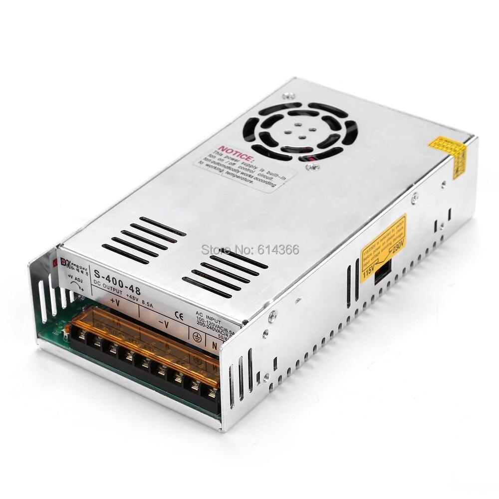 New 48V 8.5ARegulated Switching Power Supply 400W 48V 8.5A For Stepper Motor DC48V<br>
