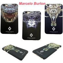 Clearance Crocodile Ivory Marcelo Burlon Case for iPhone 5 SE 6 6S Plus PC Protective Phone Cases for iPhone 6 Anti-Knock Cover(China)