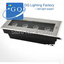 DHL UPS TNT Fedex 12W LED underground lamp  light  AC85-265V rectangle higher cost performance