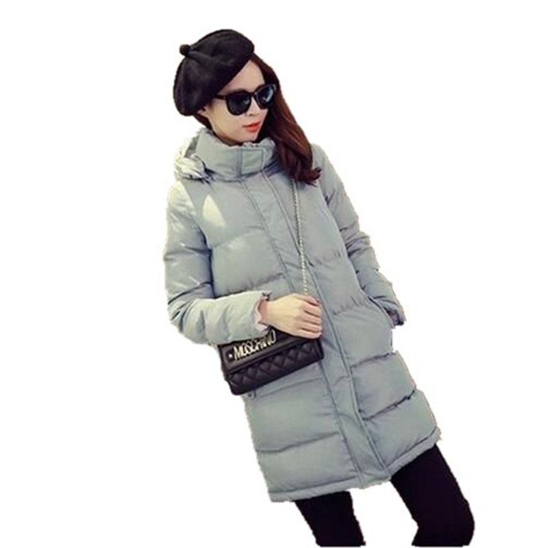 2017 Winter New Fashion Stand-Collar Hooded Padded Jacket Coat Loose Big Yards Slim Long Down Cotton Outerwear Parkas A1908Одежда и ак�е��уары<br><br><br>Aliexpress