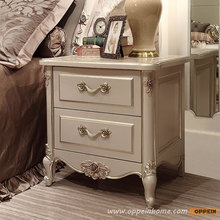 High quality bed fashion Modern French Style solid Wood Nightstand OV-0314008(China)