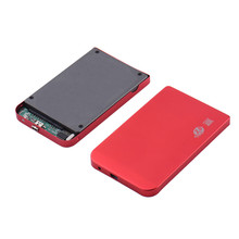 New 2.5 Inch HDD External Storage Enclosure Box Sata To USB2.0 Hard Drive Disk with USB Cable Aluminum Alloy Case Plastic Plug(China)