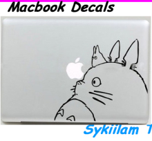 Two My Neighbor Totoro Cartoon Cat Sticker for Apple Macbook Skin Air 11 13 Pro 13 15 17 Retina Laptop Wall Auto Vinyl Decal