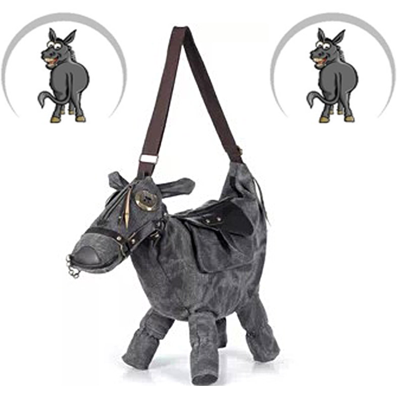 2015 New Handbag canvas Donkey Horse Shape Shoulder Bag With Saddle Can be as a Pillow or home decoration Tote Bag Messenger Bag<br><br>Aliexpress