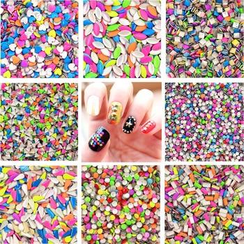 20Pcs/Lot Mix Random Colors Punk Metal Metallic Rivet Nail Art Decoration, 8 Shape For Choose