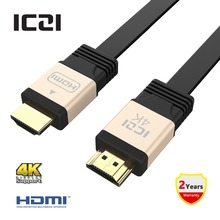 ICZI UHD HDMI Cable HDMI to HDMI Connector HDMI Ethernet Aluminum Body Gold-Plated 3D 4K @60Hz Adapter For PC HDTV PS3 Projector