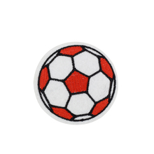 5pcs Footballs patches badges for clothing iron embroidered patch applique iron on patches sewing accessories for DIY clothes