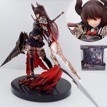 24cm GENESIS Rage of Bahamut Black Dragon Knight PC Webgame action figure Toy Collection boy gift Moveable Movie electronic pet(China)