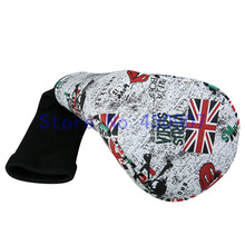 Golf Driver Fairway Wood Hybrid Cover For Golf Wood Club Head 1 3 5 UT Cover UK Skull Cover(China)