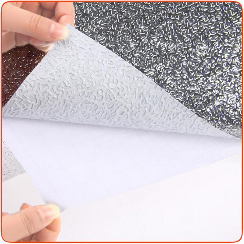 40x200cm Waterproof Kitchen Self-adhesive Foil Sticker Anti-oil Wall Paper Roll
