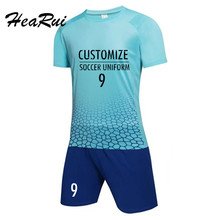 Mens Soccer Jerseys Soccer Training Suits  Custom Football Uniforms Soccer Set  Football Jerseys  Short Sleeve De Futbol DIY