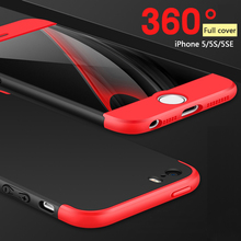 360 Degree Full Cover Phone Shield Case for iPhone 5/5s/5se,Mobile Bumper,Ultimate Phone Protector,Extreme Thin Phone Back Cover(China)