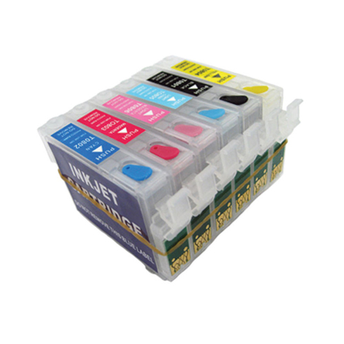 T0821 - T0826 Refillable Ink Cartridge With ARC Chip For Epson R270 R390 TX650 T50 T59 TX720 TX700 RX610 RX590 RX615 Printer<br><br>Aliexpress