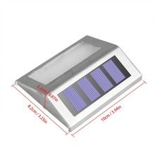 Night sensor Solar Power LEDs Outdoor waterproof Garden Pathway Stairs Lamp Light Energy Saving LED Solar wall Lamps Cold white