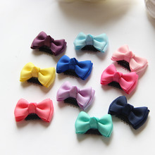 10 Pcs/lot FASACC Handmade Sewing Girls Hairpins Boutique Kids Ribbon Hair Bows Hair Clips Barrettes Kids Hair Accessories A19(China)
