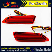 Free shipping Tail light parking warning rear bumper reflector for Toyota Corolla 2011-2013 Car styling