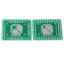 2Pcs QFP/TQFP/LQFP/FQFP 32/44/64/80/100 To DIP Adapter PCB Board Converter(China)