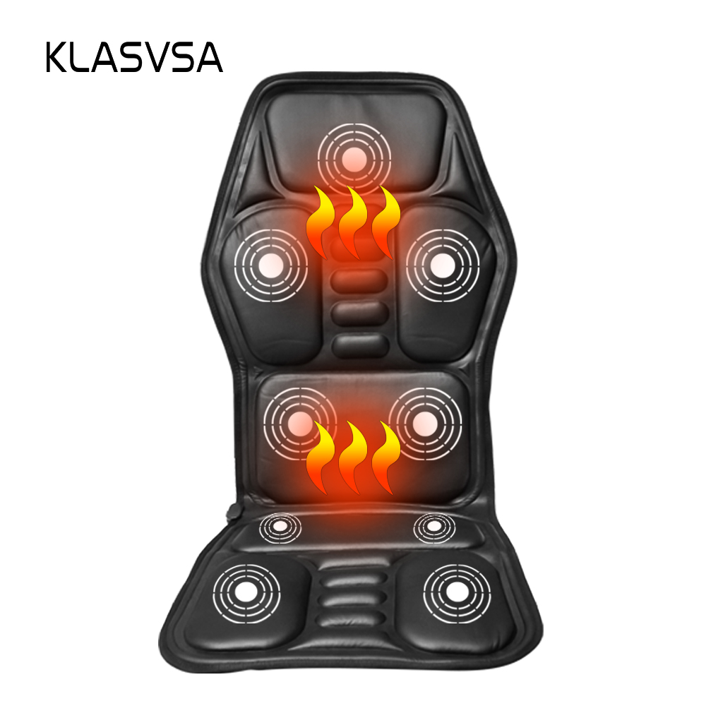 Heated Back Massage Seat Topper Car Home Office Seat Massager Heat Vibrate Cushion Back Neck Massage Chair Massage Relaxation(China (Mainland))