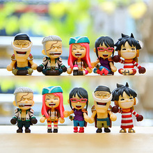 5pcs/set mini One Piece Figure New Anime Figures Luffy One Piece Action Figure Classic Collection Model Toys Brinquedos