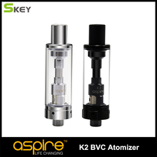 1pc Aspire K2 Atomizer 1.8 ML Capacity Tank Bottom Vertical Coil 510 Thread Compatible with eGo model Clearomizer for Vaping