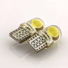 T10 COB LED Silica Gel Car Door Light 194 W5W 168 Wedge Base crystal blue white blue yellow red bulb car styling(China)
