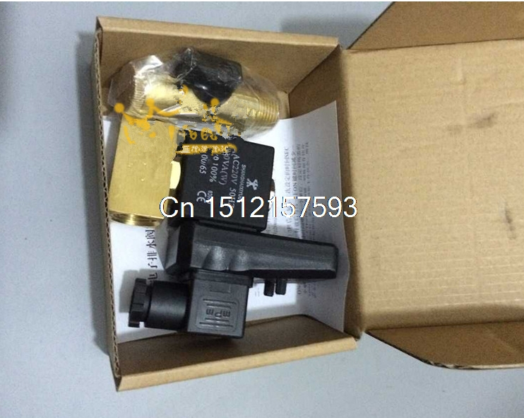 Separated Type 220V 1/2 Automatic Timer Compressor Condensate Drain Timer Solenoid Valve<br>