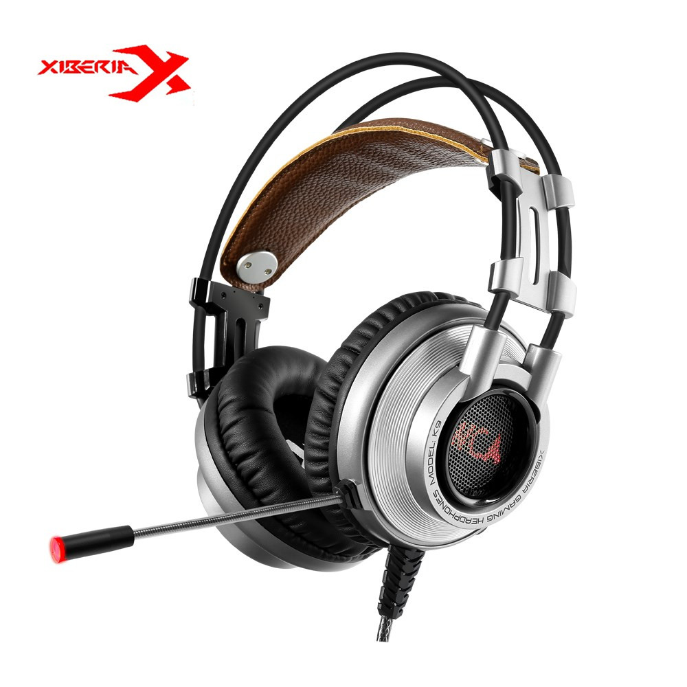 XIBERIA K9 USB 7.1 Vibration Gaming Headset Headphones With Microphone Deep Bass LED Light PC Gaming Headphones Retail Package<br>