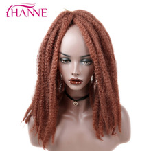 HANNE 18inch Afro Kinky Twist Hair Crochet Hair DIY Braids Synthetic Braiding Hair Extension High Temperature Fiber 3Piece/lot(China)