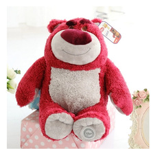 Original Lotso Strawberry Bear Cute Soft Stuffed Animals Plush Toy Doll Gift(China)