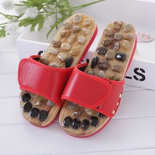 Pebble Stone Foot Massage Slippers Reflexology Feet Elderly Acupuncture Health Shoes Sandals Slippers Healthy Massager Foot Care(China)