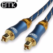 EMK Digital Toslink SPDIF 5.1 Optical Fiber Audio Cable with braided jacket 1m 2m 3m 5m 10m 15m(China)