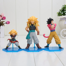 3pcs/set Anime Dragon Ball Z GT Son Goku Super Saiyan 4 PVC Action Figure Toy