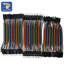 Dupont line 120pcs 10cm male to male + male to female and female to female jumper wire Dupont cable for Arduino(China)