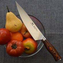 """Профессиональный 8 """"(дюймов) 200 мм поваров Ножи японский Стиль Кухня столовые приборы мясо Тесак Пособия по немецкому языку X50 Сталь Pakkawood руч...(China)"""