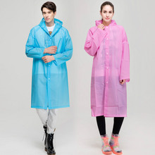 EVA Environment Raincoat With Hood For Man woman lady Outdoor Rainwear rain coat Waterproof Poncho Transparent YY308
