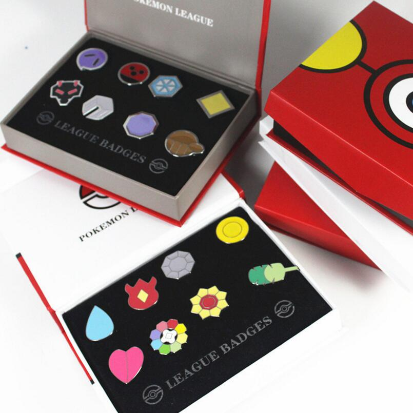Original box Pikachu Badge Brooch Poke Go Action Figures model Toys Anime cartoon cosplay Zinc Alloy Toys Gift<br><br>Aliexpress