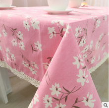 Pink/blue tablecloth size more high quality table cloth is suitable for home/hotel/party/wedding free shipping