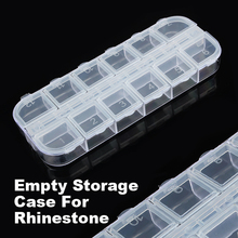 2017 Empty 12 Slots Clear Divided Storage Box Jewerly Nail Art Tips Small Beads Case Organizer Storage Box