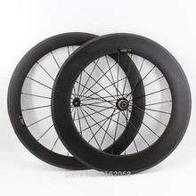 Buy New arrival 700C front 60mm+rear 88mm clincher rims Road bike matt UD full carbon bicycle wheelsets 20.5/23/25mm width Free ship for $305.99 in AliExpress store