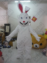 Quality Mascot MASCOT COSTUMES fancy rabbit costumes for show character white bunny mascot costumes with pink ear