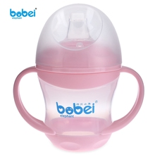 Brand Baby Feeding Bottle Kids Water Milk Bottle Soft Mouth Duckbill Sippy Infant Training Baby feeding Bottles Cups for Babies(China)