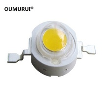 Free shipping 50PCS 1W 3w High power LED Lamps white /warm white 30mil 45mil Chips high light lights(China)