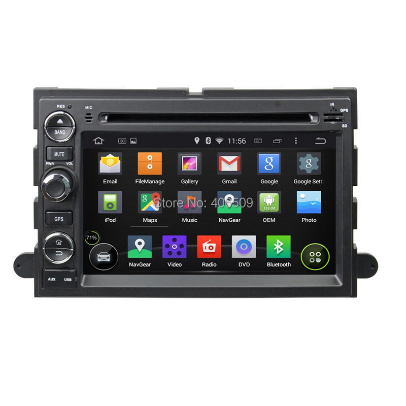 Android 5 1 car dvd player gps navigation for fusion explorer f150 edge expedition mustang with
