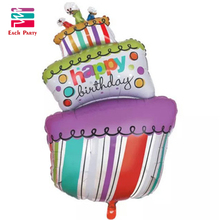 Large Size Foil Balloons Happy Birthday party Decorations kids air Balls inflatable Ballons lovely Birthday Cake Party balloons(China)