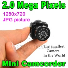 Y2000 CMOS 2.0 HD Small Portable Digital Camera Micro Mega Pixel Pocket Video Audio Mini Camcorder 640*480 480P DV DVR 720P 200W